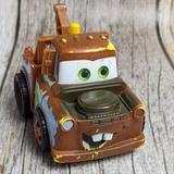 Disney Toys   Disney'S Cars Mater Plastic Tow Truck Figure   Color: Blue/Brown   Size: 2.25x3.25