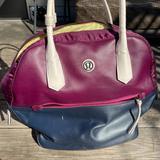 Lululemon Athletica Bags | Lululemon Large Yoga Laptop Shoulder Bag Burgundy | Color: Purple/Yellow | Size: Os