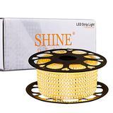 Shine Decor LED Strip Lights Dimmable 82FT, ETL-Listed 110V 120V Cuttable AC LED Rope Lights Outdoor IP65 Waterproof, 3000K Warm White LED String Lights 120LEDs/M for Home Lighting Decoration(6x10mm)