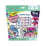 Crayola Craft Kits - Trolls Glitter Dots Sparkle Signs Craft Set