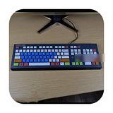 for Hp Compaq Acer Pr1101U Desktop Pc Keyboard Covers Waterproof Dustproof Clear Keyboard Cover Protector Skin-Candyblue-