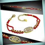 Gold Color Stainless Steel Greek Key Cord Watch-Style Link Statement Chunky Rhinestone Crystal Bangle Fashion Jewelry Bracelet For Women With Cz