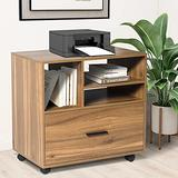 Lateral File Cabinet, Large Capacity Printer Stand with File Cabinet, Rolling File Cabinet for Home Office, Mobile Printer Filing Stand