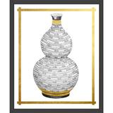 Vintage Print Gallery 'Geometric Vase I' - Picture Frame Graphic Art Print on Paper Paper in Brown/Gray/White, Size 40.0 H x 34.0 W x 1.0 D in