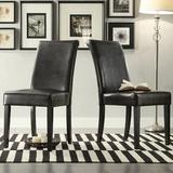 Birch Lane™ Leroux Upholstered Dining ChairFaux Leather/Upholstered in Brown, Size 39.2 H x 18.0 W x 24.0 D in | Wayfair