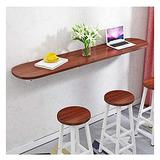 HPPOPE Wall Mounted Folding Workbench,Folding Wall Mounted Workbench Drop Leaf Table, Dining Table Desk,Study Table,Collapsible Solid Wood Table for Office Home Kitchen,brown-120x30cm
