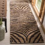 Safavieh Soho Animal Print Handmade Tufted Wool Area Rug Wool in Brown, Size 144.0 H x 30.0 W x 0.63 D in | Wayfair SOH434C-212