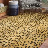 Safavieh Soho Animal Print Handmade Tufted Wool Beige/Area Rug Wool in Brown, Size 66.0 H x 42.0 W x 0.63 D in | Wayfair SOH721A-4