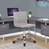 Latitude Run® Home Office Chair, Computer Chair Adjustable Height Ribbed Low Back Armless Swivel Conference Room Task Desk Chairs, Grey Upholstered