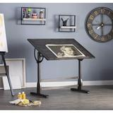 The Twillery Co.® Kyra Solid Wood Drafting Table Wood in Brown, Size 36.0 H x 42.0 W x 30.0 D in   Wayfair F6A84852A6494023A6B2C0C48A565FD6