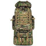 ling life Tactical Backpack 70L/100L Large Capacity Hiking Camping military Backpack MOLLE Rucksack Waterproof Climbing Daypack for Traveling, Rain Camo, 95L