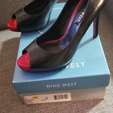 Nine West Shoes | New Nine West Pumps | Color: Black/Red | Size: 7