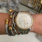 Michael Kors Accessories | Michael Kors Mens Lexington Chronograph Watch | Color: Tan/White | Size: Os