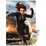 Marvel - Captain America - The Winter Soldier - Black Widow Wall Poster with Push Pins