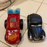 Disney Toys | Disney Car Toy Set Used For Collection, Plastic-Me | Color: Gray/Red | Size: One
