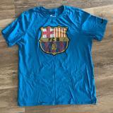 Nike Shirts   Nike-Fc Barcelona Logo Tee   Color: Blue   Size: M
