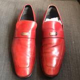 Gucci Shoes | Gucci Red Leather Loafers | Color: Red | Size: 9.5