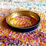 Anthropologie Jewelry | Navy And Gold Magnetic Clasp Bangle Bracelet | Color: Blue/Gold | Size: Os