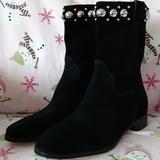 Michael Kors Shoes   Michael Kors Boots Black Suede Size 7.5 Guc   Color: Black/Silver   Size: 7.5