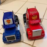 Disney Toys | Disney Car Toy Set Used For Collection, Plastic-Me | Color: Blue/Red | Size: One