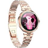 Rose Gold Smart Watch Bracelet for Women Fitness Tracker Heart Rate Sleep Monitor Classic Dress Sport Watches for iOS Android Calorie Counter Pedometer Lady Activity Tracker