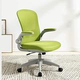Swivel Chair for Home Office, Adjustable Computer Chair, Middle Back Lounge Chair, Fabric Dining Chair, Ergonomic Chair, 4 (Color : Green)