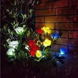 Flower Solar Garden Lights Outdoor Decorative,Flower Solar Lights Outdoor Garden,Solar Lights Outdoor Lantern,LED Solar Landscape Lighting,Outdoor Garden Lights for Yard Decoration