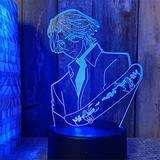 3D Anime Night Light Led Desk Lamp Children's Bedroom Decor Nightlight Kids Gift SK8 The Infinity Bedside Lamp Colors Changing Lamp Smart Control Multicolors Changing-Remote