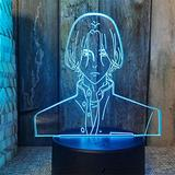 3D Anime Night Light Led Desk Lamp Children's Bedroom Decor Nightlight Kids Gift SK8 The Infinity Bedside Lamp Colors Changing Lamp Smart Control Multicolors Changing-Touch