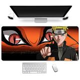 Oversized Anime Cartoon Mouse Pad,Naruto Uzumaki Naruto.PC Computer Peripherals Accessories for Desktop Laptop.Mouse Mat Extra Large Water Resistant Mousepad, The Best Gift for Anime Fans
