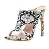 Women's Stiletto High Heel Sandals,Serpentine Open Toe Party Wedding Pump Sandals,Slide-in heels Stiletto Sandals,Sexy Stiletto Heel Peep Toe Dress Roman Sandals