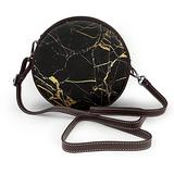 Small Cross Body Bag Gold Black Wallpaper Printed Purse With Chain Strap For Women, Fashion Circle Cellphone Round Purse