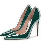 "MIRAAZZURRA Women Pumps Stiletto Heels Pointed Toe Wedding Shoes for Women 12cm/4.7"" Patent High Heel Fashion Dress Shoes US Size 8 Aqua"