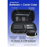 Batteries + Cards Case for Pentax D-Li109 Battery (Blue)