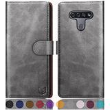 SUANPOT for LG K51/Reflect with RFID Blocking Leather Wallet case Credit Card Holder,Flip Book Phone case Shockproof Cover Cellphone Accessories Women Men for LG K51 case Wallet Gray