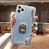Luxury Bracelet Lanyard Phone Case for iPhone 4 5 6 7 8 4S 5S 5C 5SE 6S Plus 11 12 Mini X XS XR Pro Max TPU Cover,Blue,for iPhone 4S