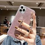 Luxury Bracelet Lanyard Phone Case for iPhone 4 5 6 7 8 4S 5S 5C 5SE 6S Plus 11 12 Mini X XS XR Pro Max TPU Cover,Pink,for iPhone 4S