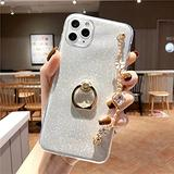 Luxury Bracelet Lanyard Phone Case for iPhone 4 5 6 7 8 4S 5S 5C 5SE 6S Plus 11 12 Mini X XS XR Pro Max TPU Cover,White,for iPhone 4S
