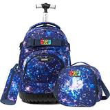 Girls Boys Rolling Backpack Kids Backpack with Lunch Box Wheels Backpacks for Girls Boys for School Luggage