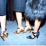 Gucci Shoes | Gucci Satin High Heel Ballerina Pumps 812it | Color: Black | Size: 8