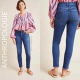 Anthropologie Jeans | Citizens Of Humanity Rocket High Rise Skinny Jeans | Color: Blue/White | Size: 25