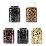 Hair Extension Beads, Silicon Lined Rings for MicroLinks,Micro Beads for Hair Extensions Human Hair (5 Color 5000pcs Micro Beads)