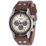 Fossil Men's Coachman Quartz Leather Chronograph Watch, Color: Brown (Model: CH2565)