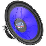 Car Vehicle Subwoofer Audio Speaker - 12 Inch Blue Injection Molded Cone, Blue Chrome-Plated Steel Basket, Dual Voice Coil 4 Ohm Impedance, 1200W Power, for Vehicle Stereo Sound System - Pyle PL1290BL