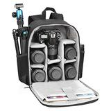 """CADeN Camera Backpack Bag with Laptop Compartment 15.6"""" for DSLR/SLR Mirrorless Camera Waterproof, Camera Case Compatible for Sony Canon Nikon Camera and Lens Tripod Accessories Black"""
