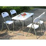 Outdoor Portable Folding Table, Simple Plastic Dining Table, Foldable Back Chair, Garden Terrace Table and Chair stall stall Table and Chair, Conference Training Table and Chair