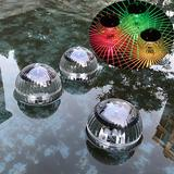 Solar Powered Floating Pond Light, Swimming Pool Color Changing LED Lamp,Waterproof Colorful Solar LED Light for Pond/Garden/House Lights for Pool/Party Fancy Ideal Novel