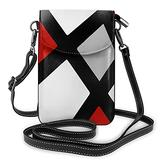 Red Gray Black White Geometric Small Crossbody Bags Cell Phone Purse Wallet With Credit Card Slots Stylish Handbags Wallet Purses for Boys Girls
