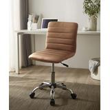 Urban Shop Office Chairs Tan - Tan Ribbed Rolling Office Chair