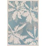 "Dream Decor Rugs Samantha Bal Harbor Indoor/Outdoor Area Rug Ivory/Turquoise 3'9"" x 5'5"" 3' x 5' Outdoor, Indoor Blue"